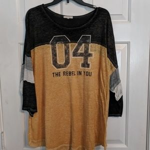 Maurice's Rebel Football Shirt Plus size 3 3x
